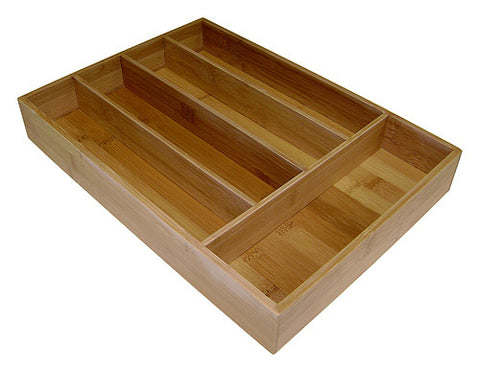 Simply Bamboo Brown 5 Compartment Bamboo Organizer Tray 1