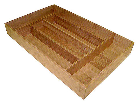 Simply Bamboo 6 Compartment Bamboo Organizer Tray