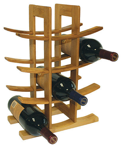 Simply Bamboo Brown 12 Bottle Wine Rack 1