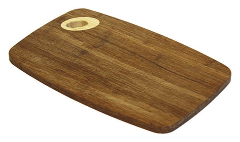Medium Carmel Carbonized Bamboo Cutting Board by Simply Bamboo