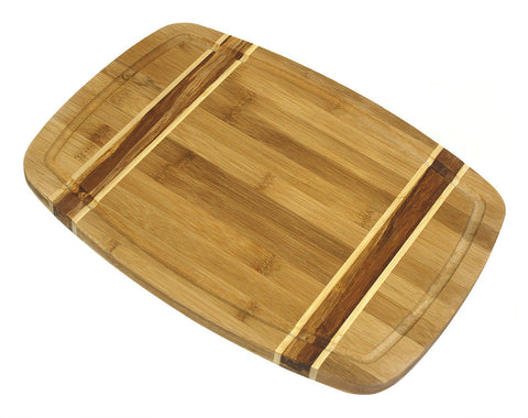 Simply Bamboo Brown Kona Bamboo Cutting Board 1