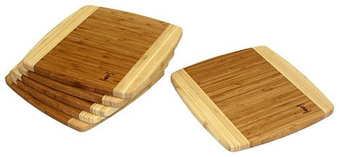 6 Piece 12 Napa Bamboo Cutting Board Set
