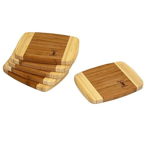 "6 Piece 8"" X 6"" Napa Bamboo Cutting Board Set by Simply Bamboo"
