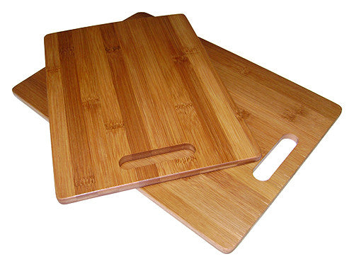 Simply Bamboo Brown 2 Piece Valencia Bamboo Board Set 1