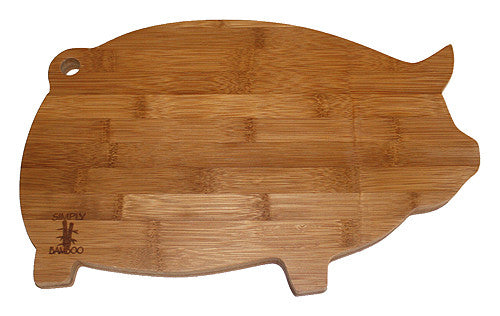 Simply Bamboo Brown Valencia Pig Board 1