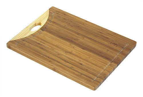 Simply Bamboo Zuma Brown Bamboo Cutting Board w/ Juice Groves 1