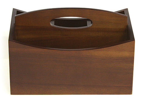 mountain woods 4 compartment acacia hardwood condiment caddy - Condiment Caddy