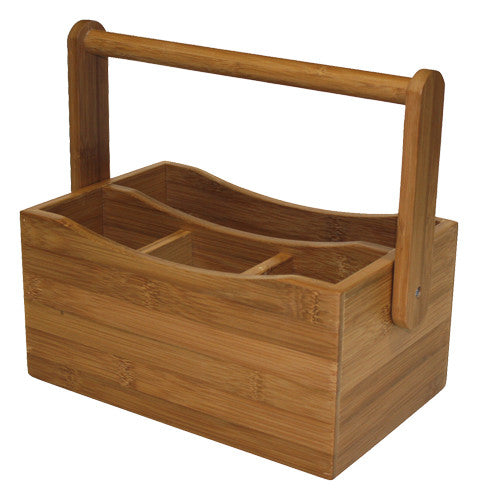 Simply Bamboo Brown Condiment Bamboo Caddy 1