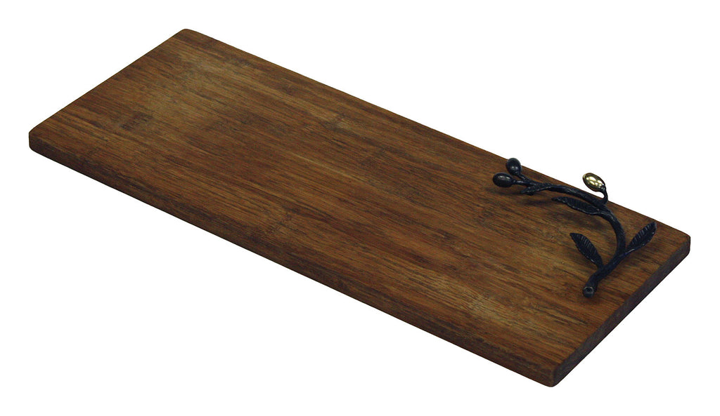 Simply Bamboo Brown Kona Berries Artisan Crafted Carbonized Bamboo Cutting & Serving Board 1