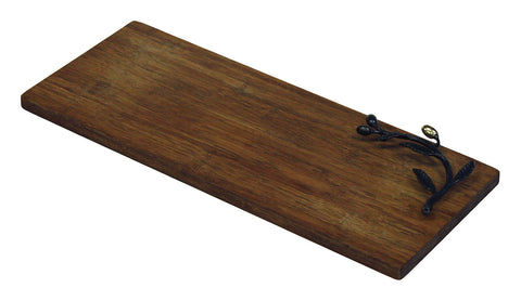 "Simply Bamboo 14.625"" X 6"" Kona Berries Artisan Crafted Carbonized Bamboo Cutting & Serving Board"