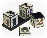 Numbers Handcrafted Canister Trio & Nesting Tray Set