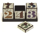 Mountain Woods By The Numbers Handcrafted 42 Ounce Wooden Canister Trio & Nesting Tray Set
