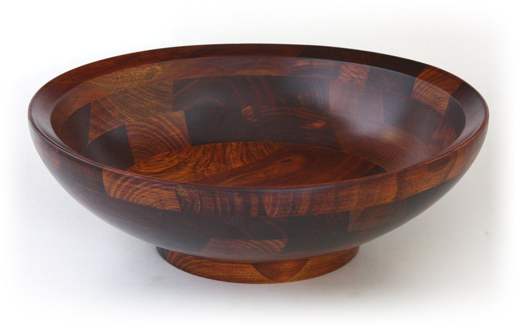 Mountain Woods Cherry Finish Bevelled Rim Wood Bowl 1