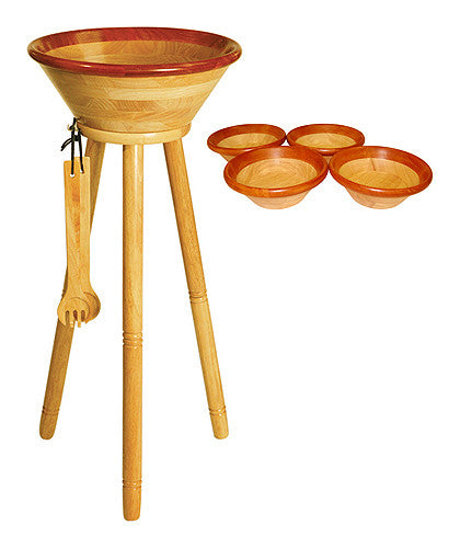 Mountain Woods 8 Piece Cherry Rim Caesar Salad Set