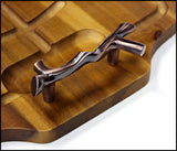 Mountain Woods Carving & Serving Board w/ Bronzed Handles