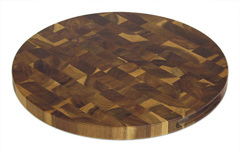 "15"" Round Acacia End Grain Cutting Board by Mountain Woods"