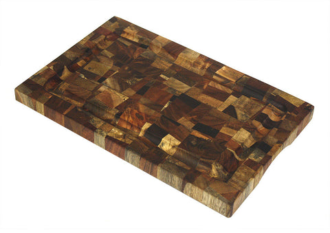 Mountain Woods Brown Extra Large Organic End-Grain Hardwood Acacia Cutting Board w/ Juice groove 1