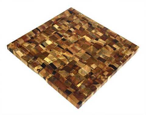 Mountain Woods 16 X 16 Squared Mosaic End Grain Cutting Board