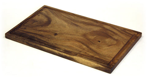 Mountain Wood Brown Solid Acacia Cutting Board with Deep Juice Groove 1