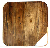 Mountain Woods Large Organic Hardwood Acacia Cutting Board w/ metal handle 3