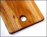 "30"" X 9"" Solid Mahogany Plank Cutting Board *HAND CARVED FROM 1 PIECE OF WOOD - 100% NATURAL (NO GLUE USED)*"