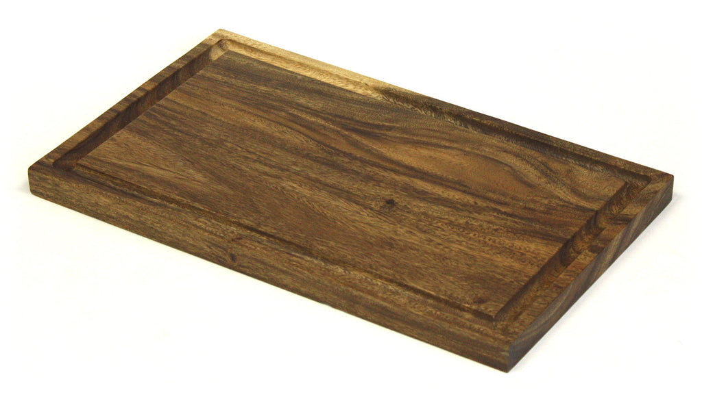 "18"" X 11"" Solid Acacia Cutting Board w/ Deep Juice Groove *HAND CARVED FROM 1 PIECE OF WOOD - 100% NATURAL (NO GLUE USED)*"