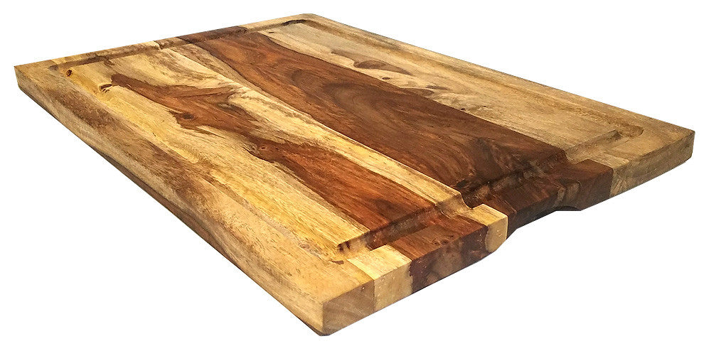 Mountain Woods Brown Sheesham Cutting Board w/ Juice Groove 1