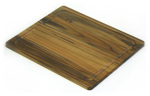 "13.5"" X 11.5"" Teak Wood Cutting Board w/ Juice Groove"