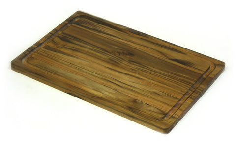 "18"" X 12"" Teak Wood Cutting Board w/ Juice Groove"