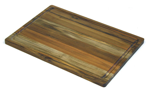 "20"" X 14"" Teak Wood Cutting Board w/ Juice Groove"