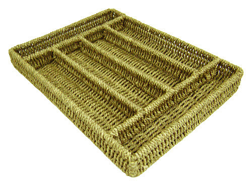 6 Section Organizer Tray Seagrass