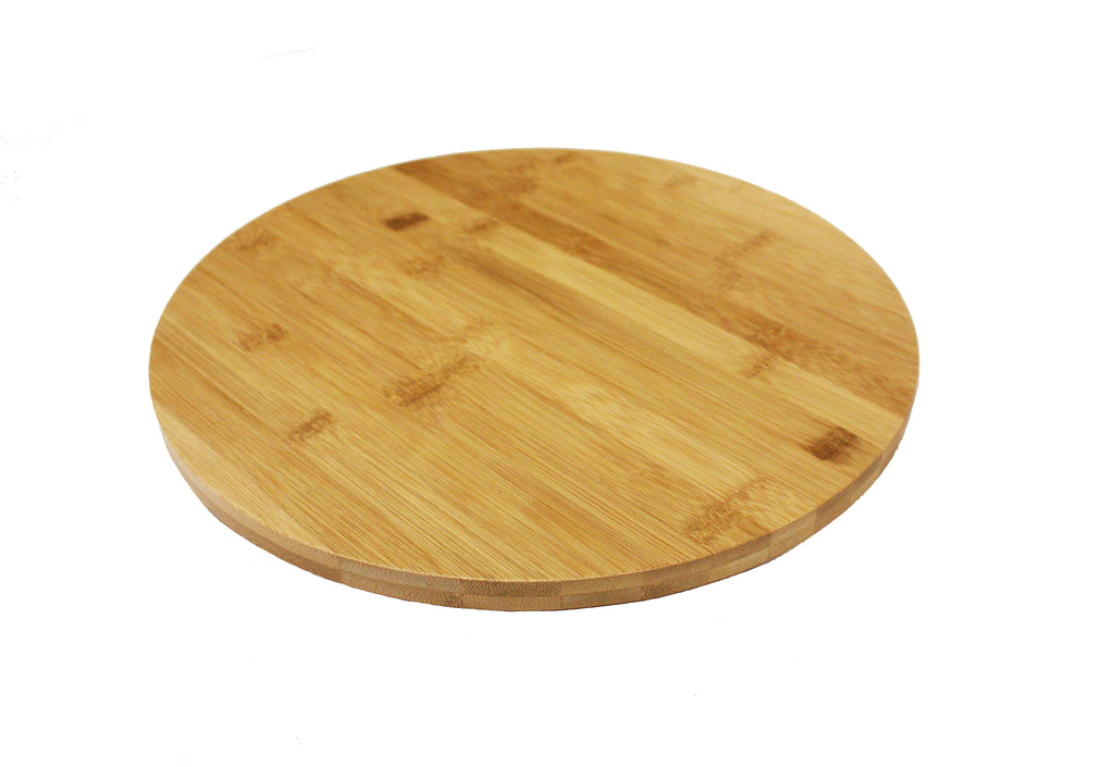 "Simply Bamboo Wood Lazy Susan Kitchen Turntable 13.5 "" Diameter X 1.5""H"