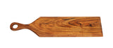 "Mountain Woods Serving/Cutting Paddle Board Made With Organic Brown Acacia Wood, 24""X6""X.625"""
