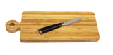 "Simply Bamboo Natural Brown Organic Edge-Grain bamboo wood Paddle Server/Cutting Board, 16""X6""X.750"""