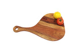 "Mountain Woods Pearl Shaped Serving/Cutting board Made With Organic Brown Acacia Wood, 17""X11""X.625"""