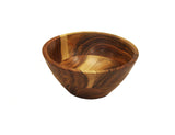 "Mountain Woods 7"" Organic Brown wood Bowl 