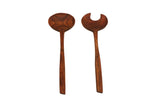 Mountain Woods Set of 2 Luxury & Elegant Acacia Salad Server / Utensil set - 12""