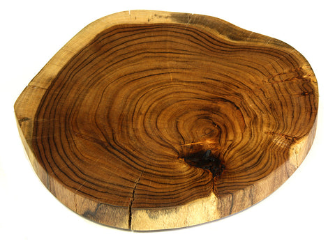 Mountain Woods Brown Large Organic Hardwood Acacia Live Edge Cutting and Serving Stump Board With Legs, Natural Edges 1