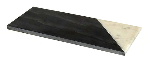 Mountain Woods 12 x 6 Genuine French Black and White  Marble Stone Cheese/ Cutting Board