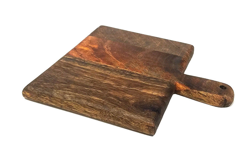 "Mountain Woods Casa Rustic Collection 9"" Square Paddle Cutting & Serving Board"