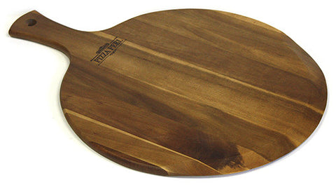 "Mountain Woods Large (16"" X 21.25"") Gourmet Acacia Hardwood Pizza Peel / Cutting Board / Serving Tray *Available in other sizes/styles/materials"