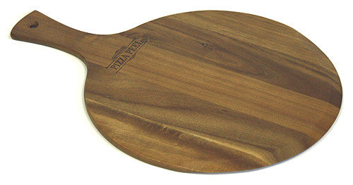 "Mountain Woods 13"" X 18"" Gourmet Acacia Hardwood Pizza Peel / Cutting Board / Serving Tray *Available in other sizes/styles/materials"