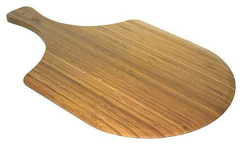 Simply Bamboo Brown Large Bamboo Wood Pizza Peel / Cutting Board / Serving Tray 1