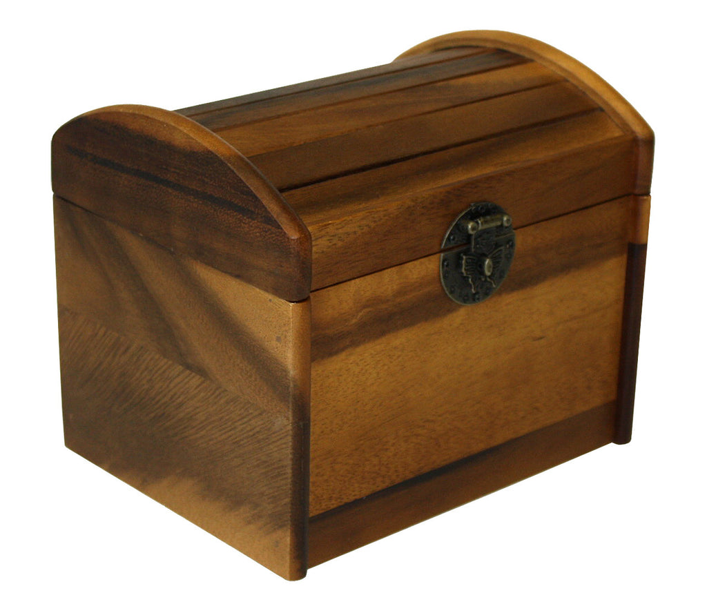Mountain Woods Brown Acacia Hardwood Recipe Box 1