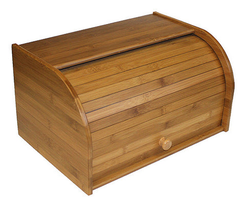 Simply Bamboo Large Roll Top Bread Box & Storage Box