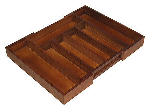 Mountain Woods Walnut Finish Expandable Silverware Tray