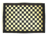 Mountain Woods 22 X 16 Checker Bottom Hand Made Antique Style Serving Tray (Black / Yellow / Brown)