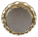 "ZUCCOR 15"" Athens Round Serving Tray With Mirror"