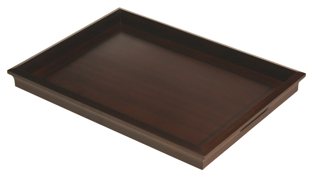 "Mountain Woods 22"" X 16"" Ottoman Luxury Wooden Serving Tray"