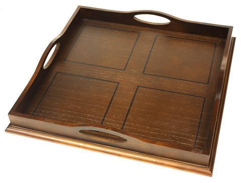 "Mountain Woods 20"" Ottoman Luxury Wooden Serving Tray"